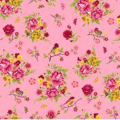 Tela algodón - Romantic Jardín