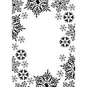 Embossing Folder - Marco Copos de Nieve