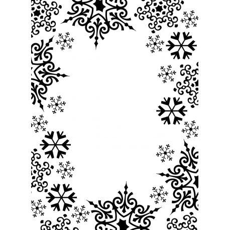Carpeta de relieve Darice Marco copos de Nieve | Creactividades