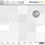 Silver Paper Pad 30x30 Artemio