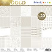 Gold Paper Pad 30x30 Artemio