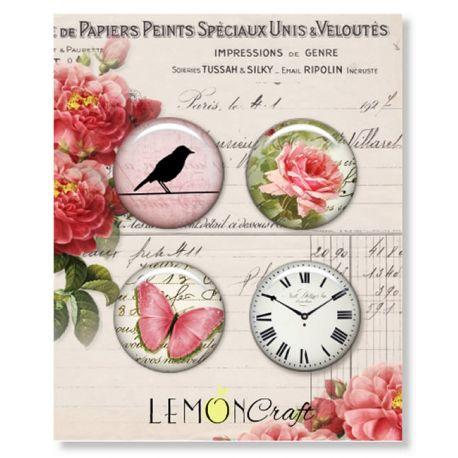 LemonCraft - Set de chapas adhesivas Heart Painted (LD-HP01)