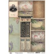 13 Arts - Vintage Moments hoja de recortables (ARTWM08)