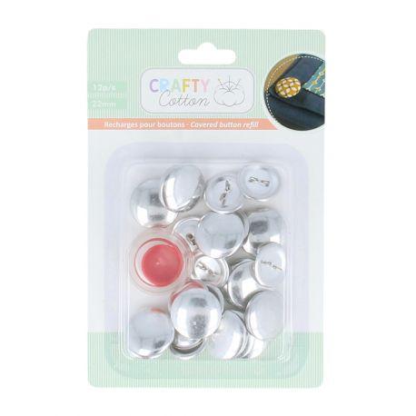 Artemio botones para forrar con tela (incluye herramienta) (13080057)