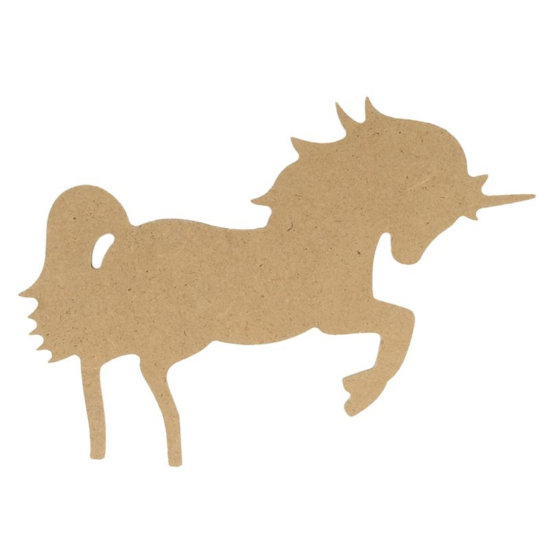 Artemio silueta mdf unicornio grande 14002641 - Siluetas madera infantiles ...
