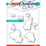 La Pareja Creativa - Set de troqueles Fiesta de Elefantes