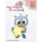 Nellie's Choice Sello acrílico Owl Family Star CSO007