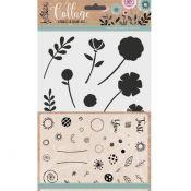 Sellos y stencil - Flores
