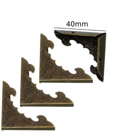 Esquinera 40mm bronce antiguo oriental