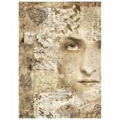 Stamperia Papel de Arroz para decoupage Old Lace Face (DFSA4266)