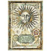 Stamperia Papel de Arroz para decoupage Alchemy Sun (DFSA4259)