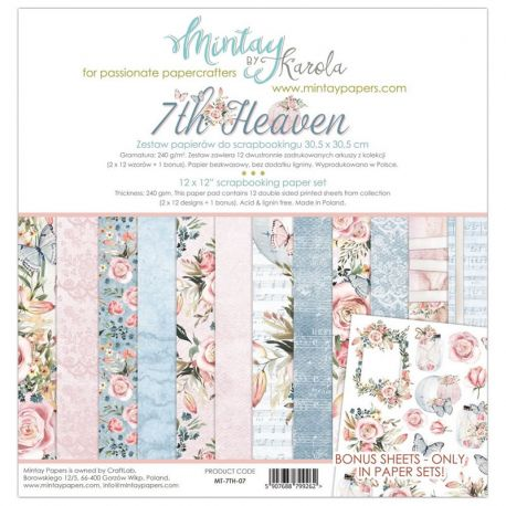Mintay Papers - 7th Heaven Scrapbooking Paper Pad 30x30 (MT-7TH-07)