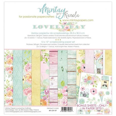 Mintay Papers - Lovely Day Scrapbooking Paper Pad 30x30 (MT-LOV-07)