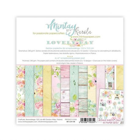 Mintay Papers - Lovely Day Scrapbooking Paper Pad 15x15 (MT-LOV-07)