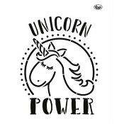 Viva Decor - Stencil en acetato Unicorn Power