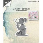Joy Crafts - Troquel Scrapbooking para Big Shot Niña y Flor (6002/1059)