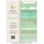 LemonCraft - Set de cartulinas para scrapbooking Leaves (LZP-LVS01)