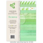 LemonCraft - Set de cartulinas para scrapbooking Leaves 2 (LZP-LVS02)