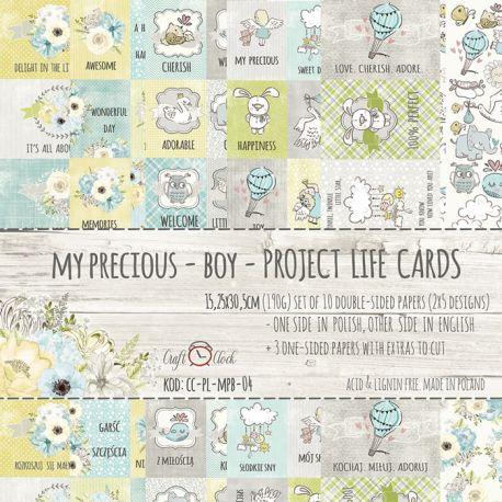 Craft O'Clock My Precious Boy - Tarjetas para Project Life