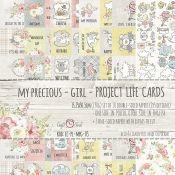 Craft O'Clock My Precious Girl - Tarjetas para Project Life