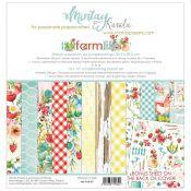 Mintay Papers - Farmlife Scrapbooking Paper Pad 30x30 | CreActividades
