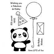 Sellos silicona Woodware Panda Birthday FR700