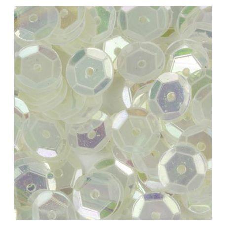 Lentejuelas, sequins blanco translúcido irisado | CreActividades