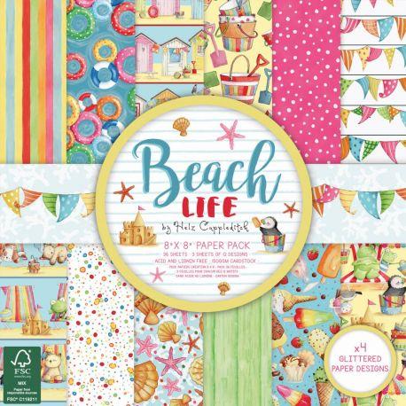 Dovecraft Beach Life Pad 20x20 (HZPAP005) Surtido scrapbooking