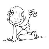 Sello bebé flor
