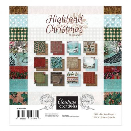 Couture Creation - Highland Christmas Paper Pad 15x15 (CO726273)