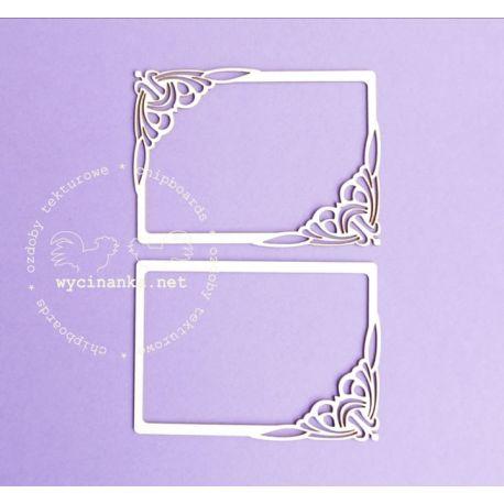 Wycinanka Laser Cut - Set marcos Rectangulo Art Nouveau