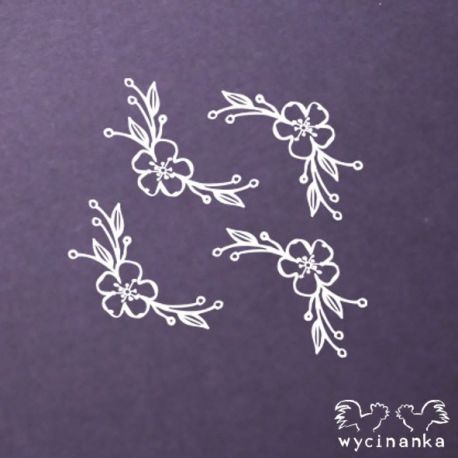 Laser Cut - Set Flores y Ramitas