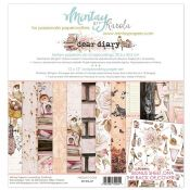 Mintay Papers - Dear Diary Scrapbooking Paper Pad 30x30 | CreActividades