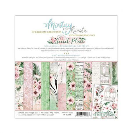 Mintay Papers - Secret Place Scrapbooking Paper Pad 15x15 | CreActividades