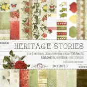 Craft O'Clock - Papel para scrapbooking Heritage Stories Set de 15x15
