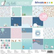 Artemio - Set papeles para scrapbooking My Little Xmas