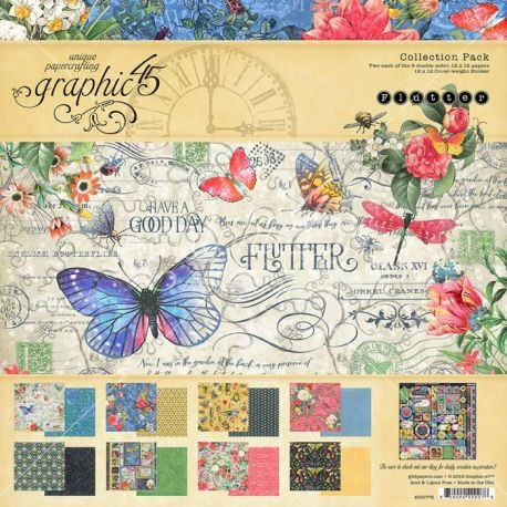 Graphic 45 Flutter Scrapbooking Collection Pack