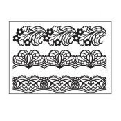 Darice Embossing Folder Bordes de Encaje