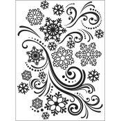 Darice Embossing Folder Copos de Nieve