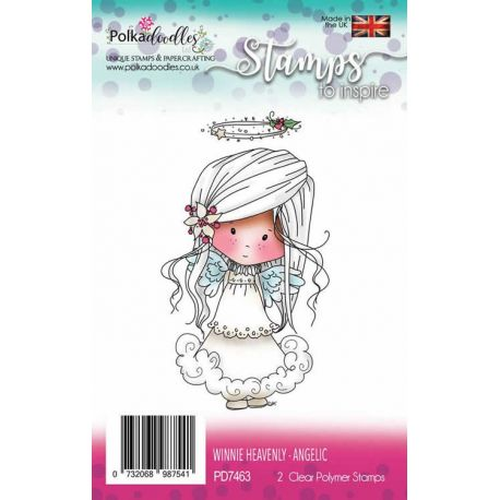 Polkadoodles - Sellos transparentes Winnie Heavenly Angelic