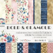Craft O'Clock - Papel para scrapbooking Bold & Glamour Set de 15x15