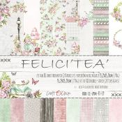 Craft O'Clock - Papel para scrapbooking Felici Tea Set de 15x15