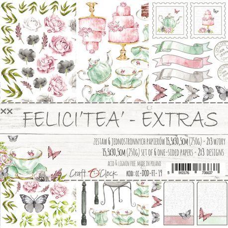 Craft O'Clock Felici Tea - Adornos Extras para recortar