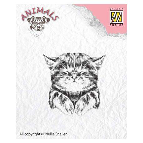 Nellie's Choice - Sello de silicona transparente Gatito