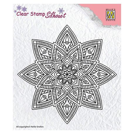 Nellie's Choice - Sello de silicona transparente Mandala 2