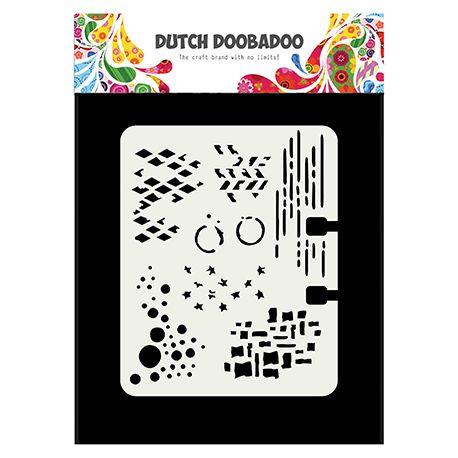 Plantilla para estarcido Rolodex - Dutch Doobadoo