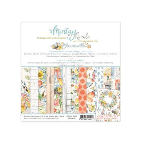 Mintay Papers - Bloomville Scrapbooking Paper Pad 15x15 | CreActividades