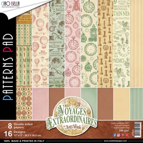Papeles Ciao Bella - Voyages Extraordinaires Patterns (CBT020)