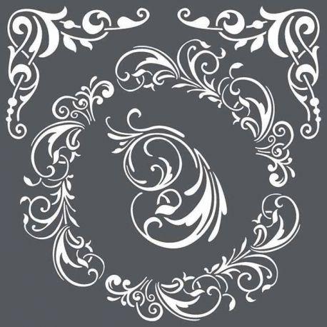 Stamperia - Stencil decorativo en acetato Stencil Adornos y Esquineras Barrocos (KSTDQ22)