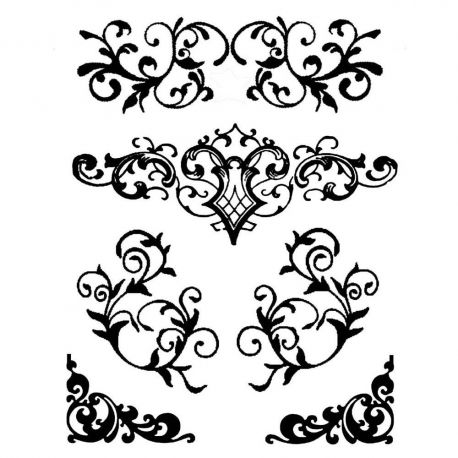 Stamperia - Stencil decorativo en acetato Arabescos 2 (KSTD038)